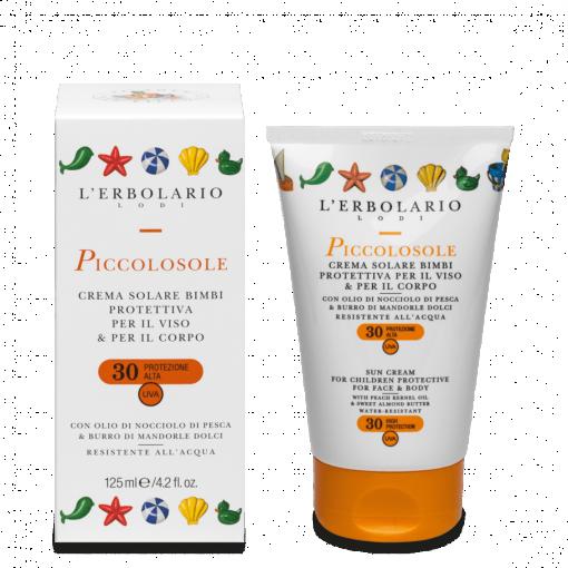 Piccolosole Crema solare bimbi protezione viso:corpo SPF30 125