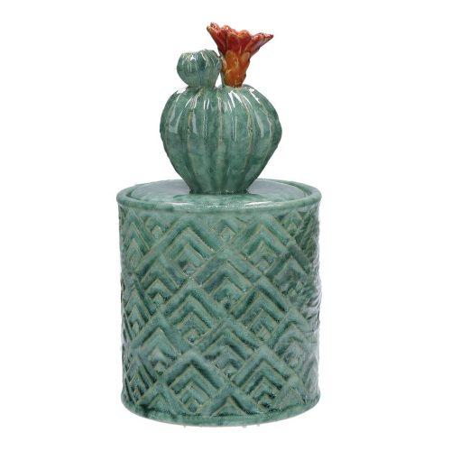 Yucatan Contenitore Opuntia in Ceramica
