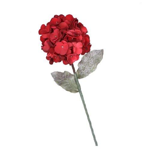 Flora Rosso Glitter Oro Ortensia