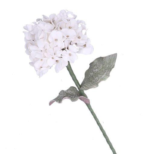 Flora Bianco Glitter Oro Ortensia