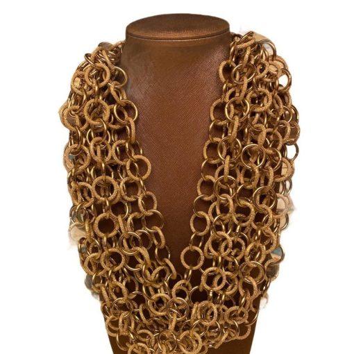 Collana Catena Sabbiata e Oro Antico