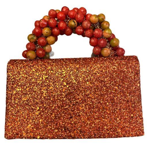 Clutch Pochette da Polso Arancione